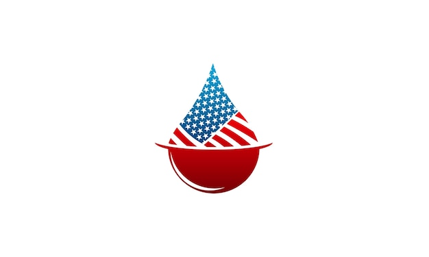 Chemical and oil industries with american flag