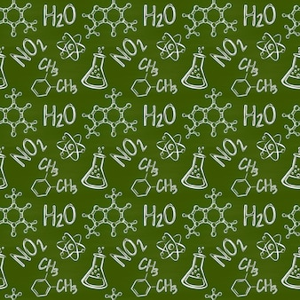Chemical seamless pattern