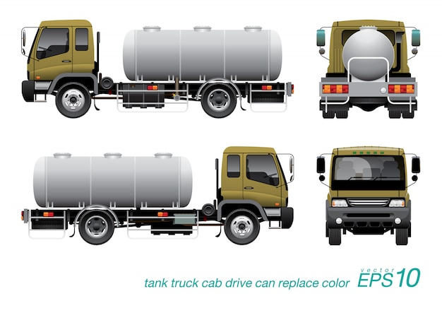 Chemical tank truck