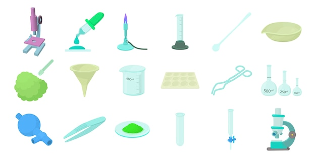 Chemical tools icon set