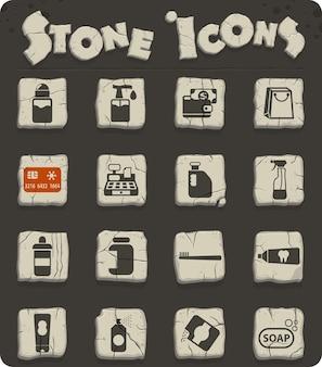 Магазин химикатов векторные иконки для веб-дизайна и дизайна пользовательского интерфейса