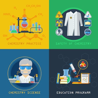 Chemistry 2x2 design concept set