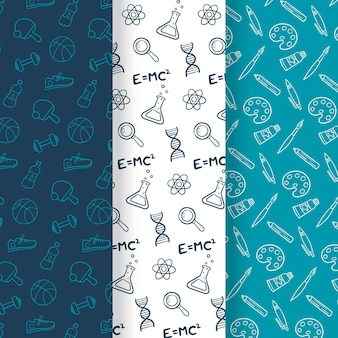 Chemistry and art school seamless pattern