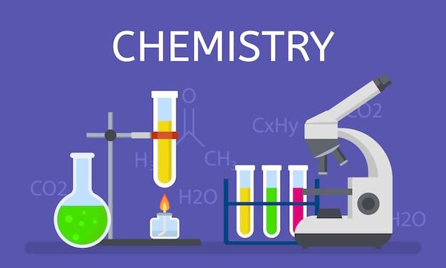 化学コンセプト、フラットスタイル
