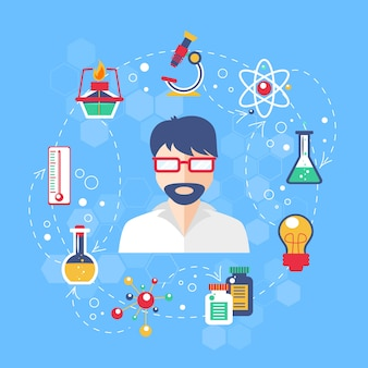 Chemistry concept illustration
