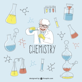 Chemistry drawings vector