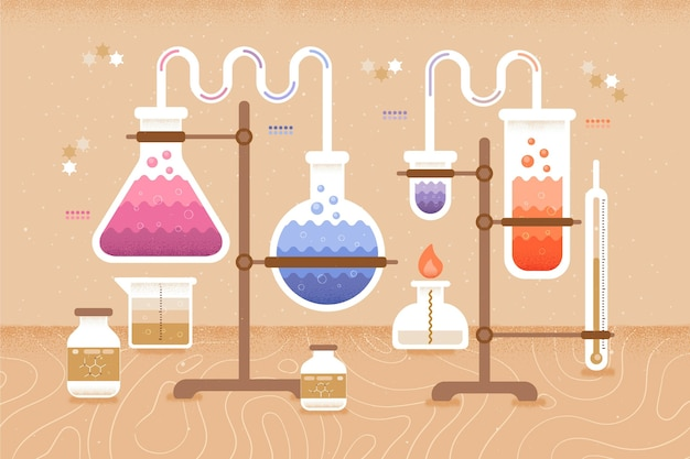 Chemistry elements back to school concept