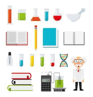 Set di icone di chimica
