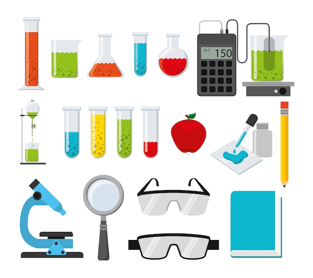 Chemistry icon set