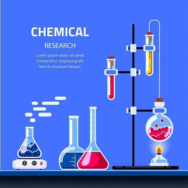 Chemistry lab and science equipment. pharmacy and chemistry concept. education and science concept banner.