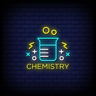 Химия неоновые вывески стиль текста с байкерским значком