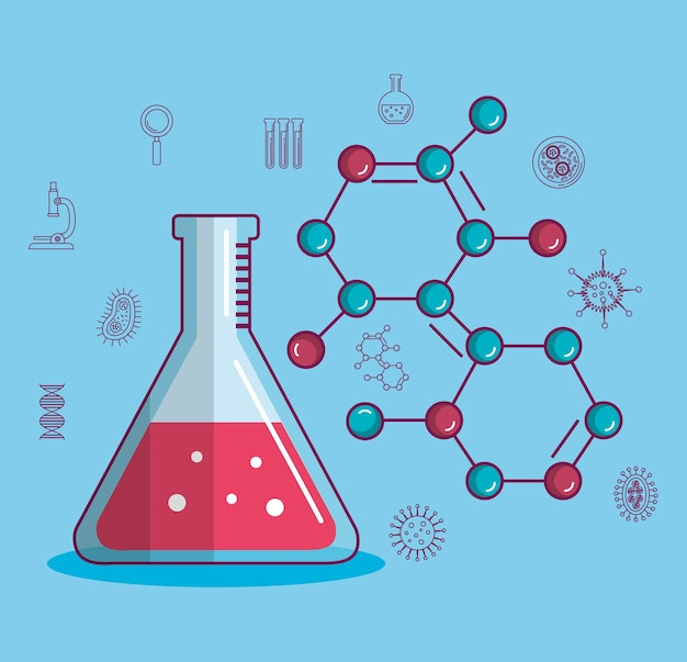 Chemistry science poster icon