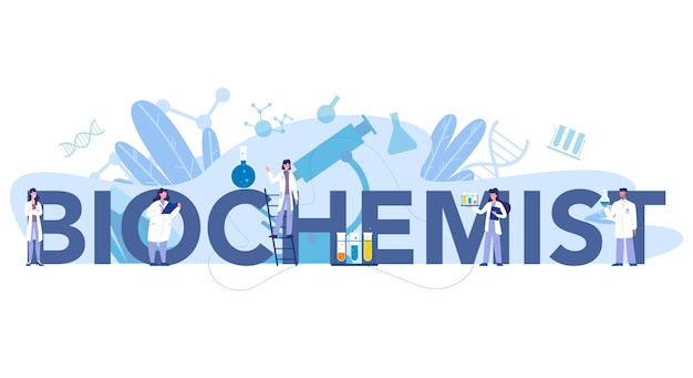 Chemistry science typographic header concept