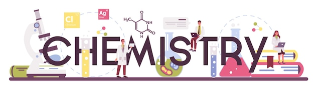 化学科学活版印刷ヘッダー
