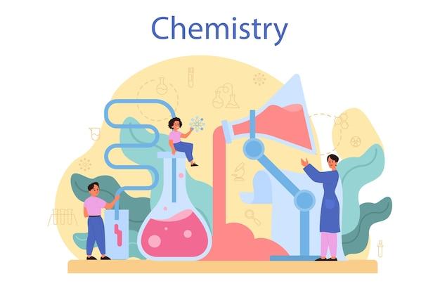 フラットデザインの概念を研究する化学