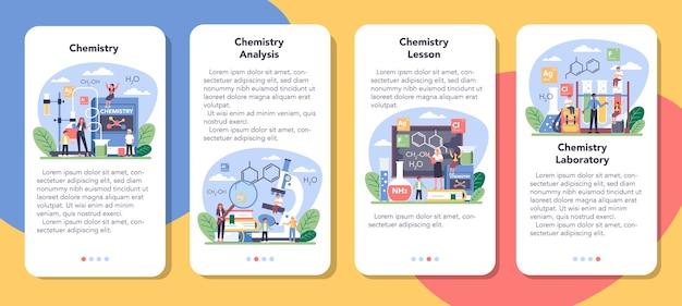 Набор баннеров для мобильных приложений по химии