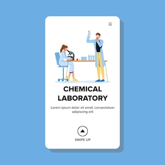 Chemists working in chemical laboratory