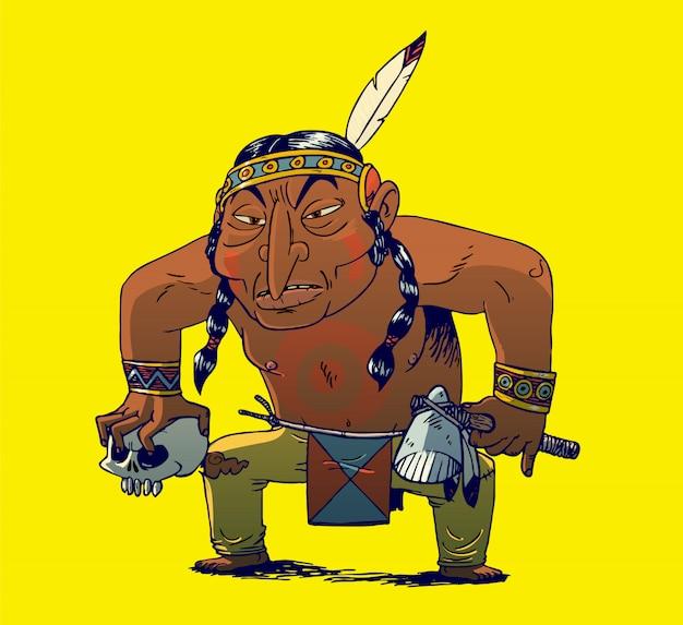 Индейский воин чероки