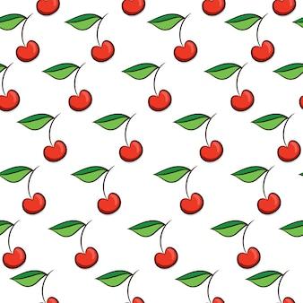 Cherries pattern background