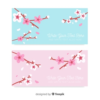 Cherry blossom card pack