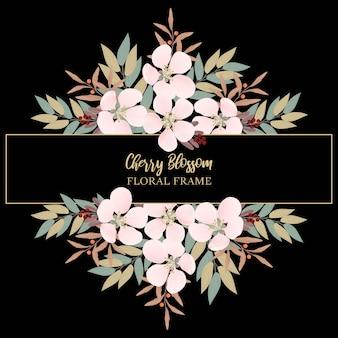 Cherry blossom floral frame