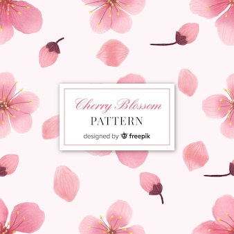 Cherry blossom flowers pattern