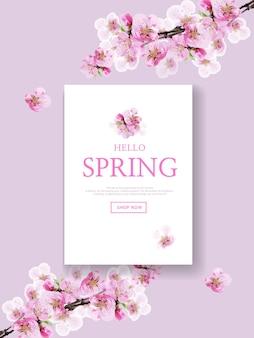 Вишневый цвет привет весна баннер