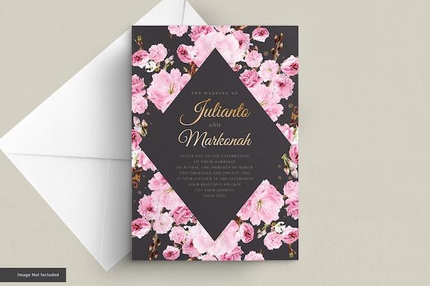 벚꽃 초대 카드 세트