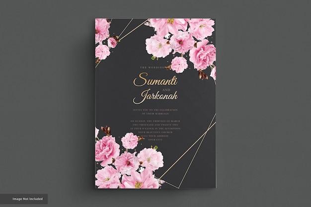 Set di carte invito fiori di ciliegio