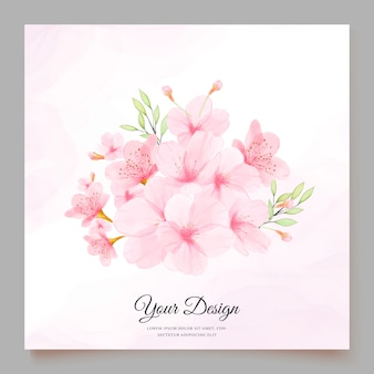 Cherry blossom invitation card template