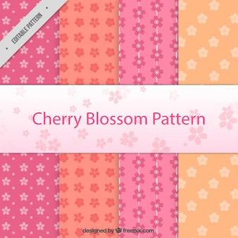 Cherry blossom pattern collection
