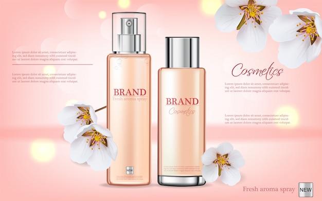 Cherry blossom spray cosmetics