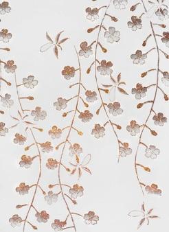 桜のヴィンテージイラスト、オリジナルアートワークからのリミックス。