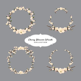 Cherry blossom wreath collection