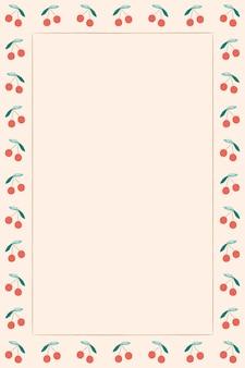 벚꽃 테두리 베이지 색 배경 프레임