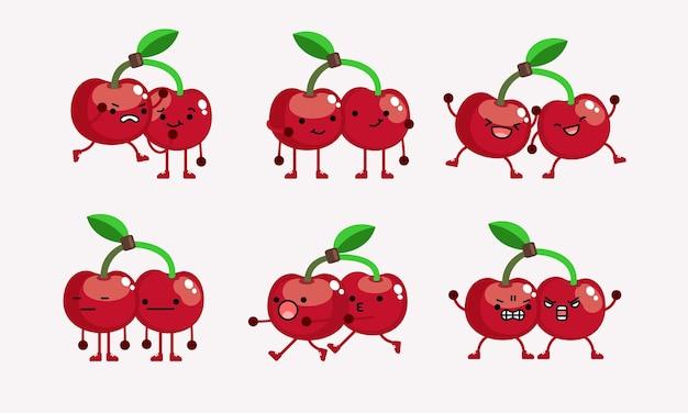 アイコンmaに使用されるポーズや表情の異なる桜のキャラクターマスコットイラスト