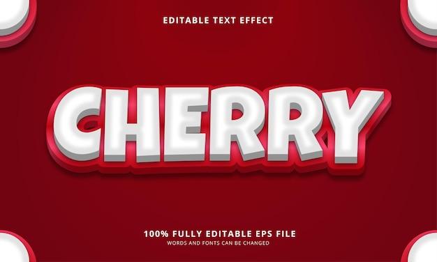 Cherry editable text effect