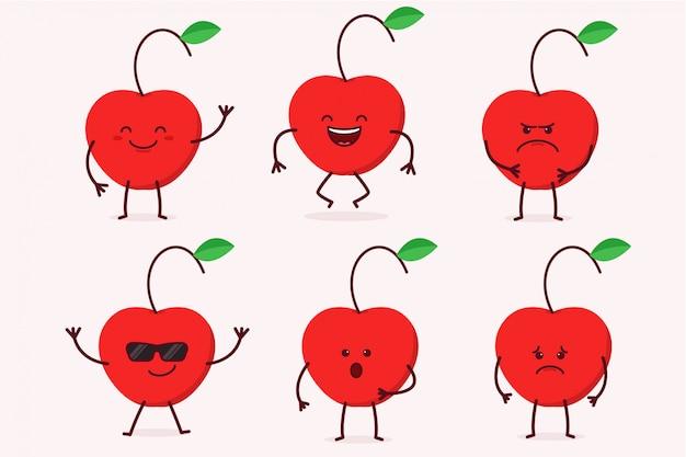 Cherry fruit character set