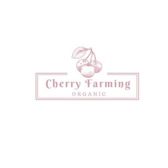 Логотип магазина вишневых фруктов