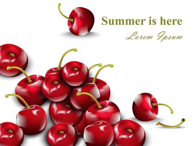 Cherry fruits pattern