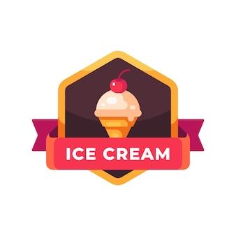 Вишневое мороженое. этикетка быстрого питания
