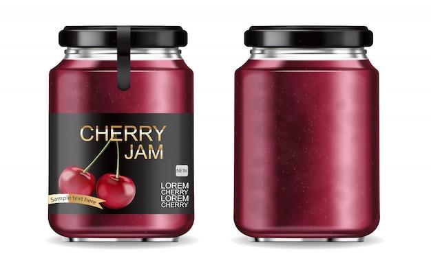 Cherry jam realistic