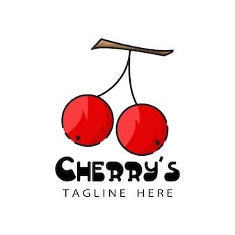 Cherry logo template design vector