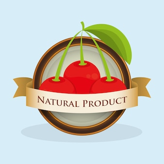 Cherry natural product label