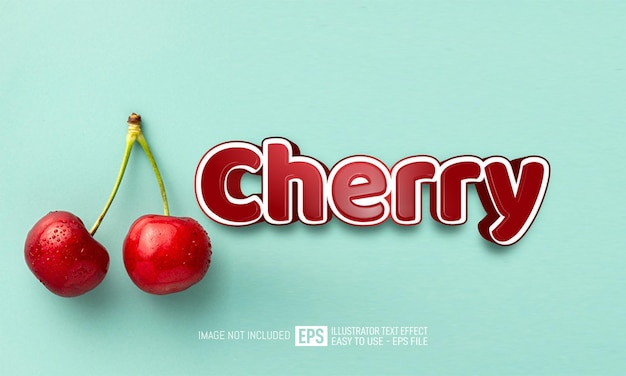 Cherry text editable style effect template