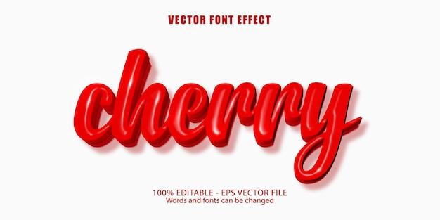Cherry text, editable text effect