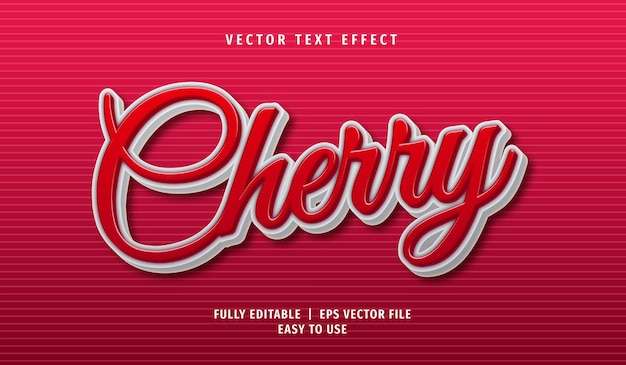 Cherry text effect, editable text style