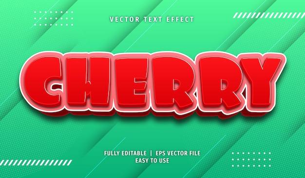 Cherry text effect, editable text style
