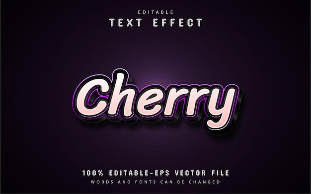 Cherry text effect