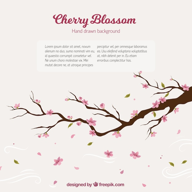 Free Cherry Tree Branch Background Svg Dxf Eps Png Logo Svg File Free Download